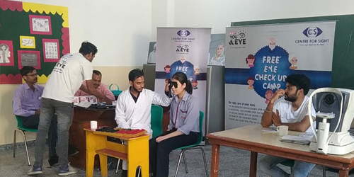 Eye Checkup Camp organized in School Premises