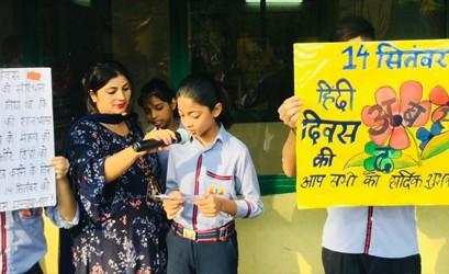 SNPS Malviya Nagar celebrated Hindi Diwas
